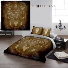 ouija board parchment duvet cover set for uk king us queensize bed