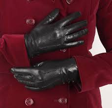 kate women s silk lined leather glove with on black