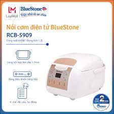 Nồi cơm điện tử BlueStone RCB-5909 1.2L - Công nghệ nhiệt Fuzzy Logic -  Lòng nồi dày 1.7mm cao cấp - Cho gia đình 3-4 người - Bảo hành 2 năm - Hàng  Chính Hãng