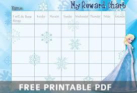 Frozen Printable Sticker Reward Chart Printable Reward