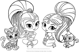 Shimmer And Shine Coloring Book Pages