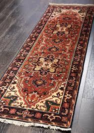 rugsville persian heriz orienal rust black runner rug 60x240