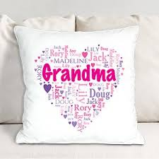grandma s heart word art throw pillow personalized gifts for grandma