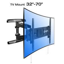 luxury full motion tv wall mount 70 inch loctek curved flat t v for 32 bracket l c d e o