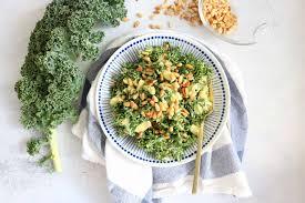 Lemon + Avocado Kale Salad - The Toasted Pine Nut