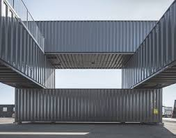 office in container. Portable, Low-energy Shipping Container Office Pops Up In Copenhagen