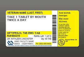 Prescription Label Template A New And Improved Va Prescription Label Veterans Health