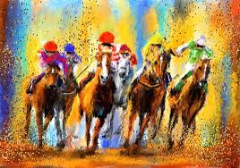 colorful horse paintings horse racing painting colorful horse racing impressionist paintings by colorful horse head paintings