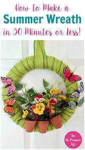 flower garden wreath with erflies