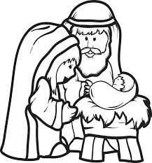 Small Picture FREE Printable Mary Joseph Baby Jesus Coloring Page for Kids 2