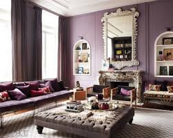 Purple And Grey Living Room Decorating Purple Wall Living Room Curtains Ideas With Grey Coffee Table On