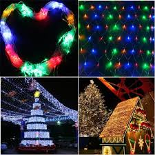 multi color led fairy net lights image multi color 300 led net mesh