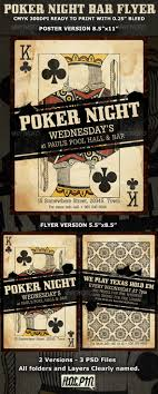 poker night flyer template com your template pokernight bar flyer preview