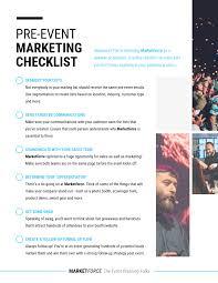 Photo Pre Event Marketing Checklist Template