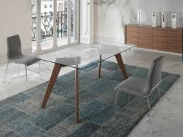 perfect contemporary glass dining table and chair modern furniture room porto lujo with walnut leg top in choice of size set uk canada