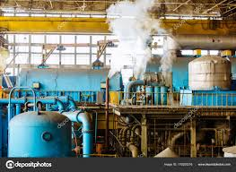 power plant generators. Machine Room In Thermal Power Plant With Electric Generators And Turbines. Station. \u2014