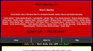 New Worli Chart Access Worlimatka In Worli Satta Matka Satta Matka