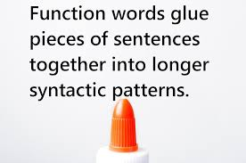 definition and examples of function words in english