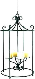 wrought iron hanging candle chandelier outdoor rustic