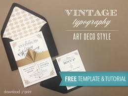 invitation download template free template vintage wedding invitation with art deco band