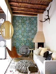 moroccan tiled wall