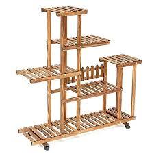 outdoor shelf generic bamboo wooden plant stand indoor outdoor garden planter flower pot stand shelf outdoor