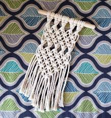 small macrame wall hanging aster vine