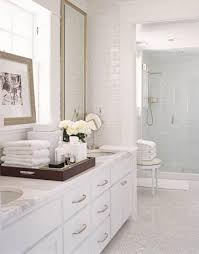 white carrara marble bathroom. White Double Vanity With Marble Countertop Carrara Bathroom E