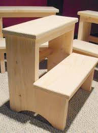 Step Stool For Bedroom 14 Inch Tall Handcrafted Pine Step Stool Unfinished Step Stools
