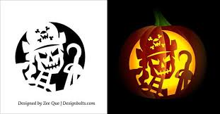 Scary Pumpkin Carving Patterns Mesmerizing Skeleton Pumpkin Carving Patterns Free Printable Skeleton Scary