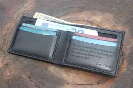 men s personalized leather wallet men s custom leather wallet black leather wallet gift