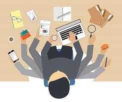 tech office alternative. Busy Business People Working Hard . Tech Office Alternative