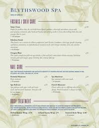 Spa Menu Of Services Template Spa Menu Templates And Designs From Imenupro