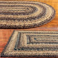 jute braided rug black brown and tan primitive country cappuccino com