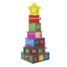 com kurt adler wooden gift tree advent calendar 13 inch home kitchen