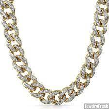 (1) gold micro 100 emoji pendant with chain. 18mm Jumbo Iced Out Gold Miami Kubanischen Kette Herren Halskette Ebay