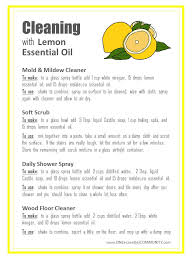 8 diy recipes for cleaning with lemon essential oil plus a free