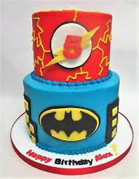 2 Tier Superhero Themed Kids Birthday Cake Foto Flavor Cupcakery