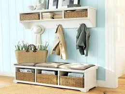 Entrance Bench With Coat Rack