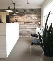 cool office reception areas. Reception Area Ideas Block Off Kit With Wooden Half Wall Salon . Cool Office Areas N