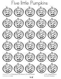 five little pumpkins free printable book and puppet show 5 little pumpkins coloring sheet