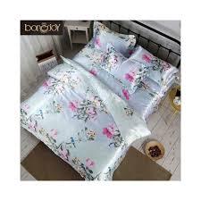 bonenjoy satin silk bed linen china silk bedding sets queen king size fl printed duvet cover twin bedcloth summer bed sheets size queen sheet type flat