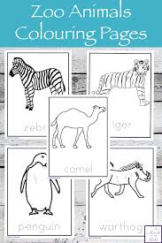 Wild animals coloring pages ]. Zoo Animals Colouring Pages Simple Living Creative Learning