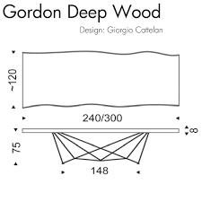 Table Cattelan Italia Gordon Deep Wood