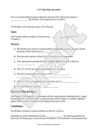 template for llc operating agreement llc operating agreement sample template llc partnership