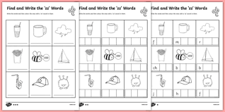 Order hard copies of our phonics monster series on amazon.com! Find And Write The Zz Words Differentiated Worksheet Worksheet Pack