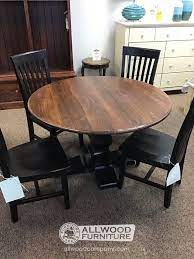 Pine farmhouse solid dining / kitchen table made in devon. 48 Round Farmhouse Pedestal Table Baton Rouge Br 11544 Sold All Wood Furniture