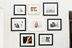 Gallery wall featuring our Mercer, Irvine Slim, and Marin frames | Via  Bleubird Blog