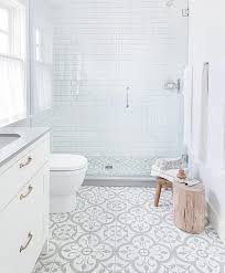 patterned floor bathroom tile trend