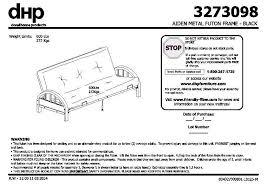 luxury mainstays metal arm futon instruction manual 2